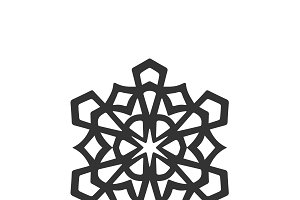 isolated snowflake icon