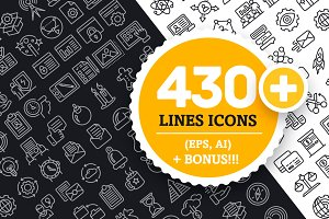 Collection Lines Icons (430+)