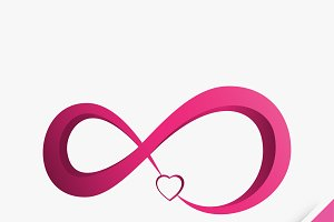 infinity with heart love