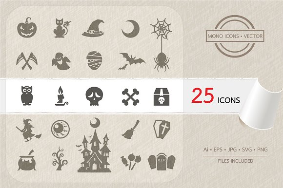 Halloween Party Icons Set