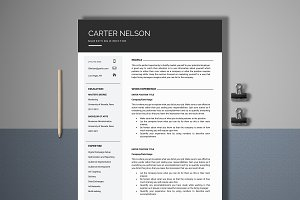 Resume Template 4 Page | Director