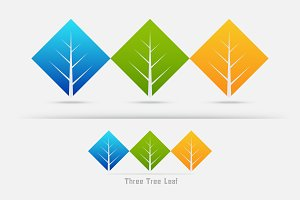 ,three tree leaf concept