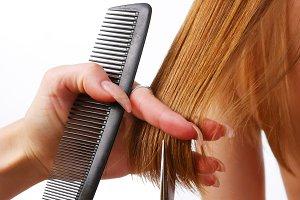 long hair and hairdresser