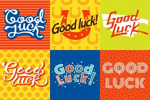 Good luck text farewell card