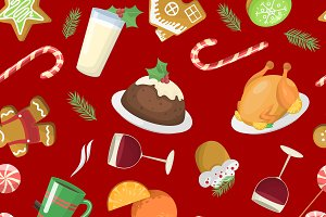 Sweet Christmas seamless pattern