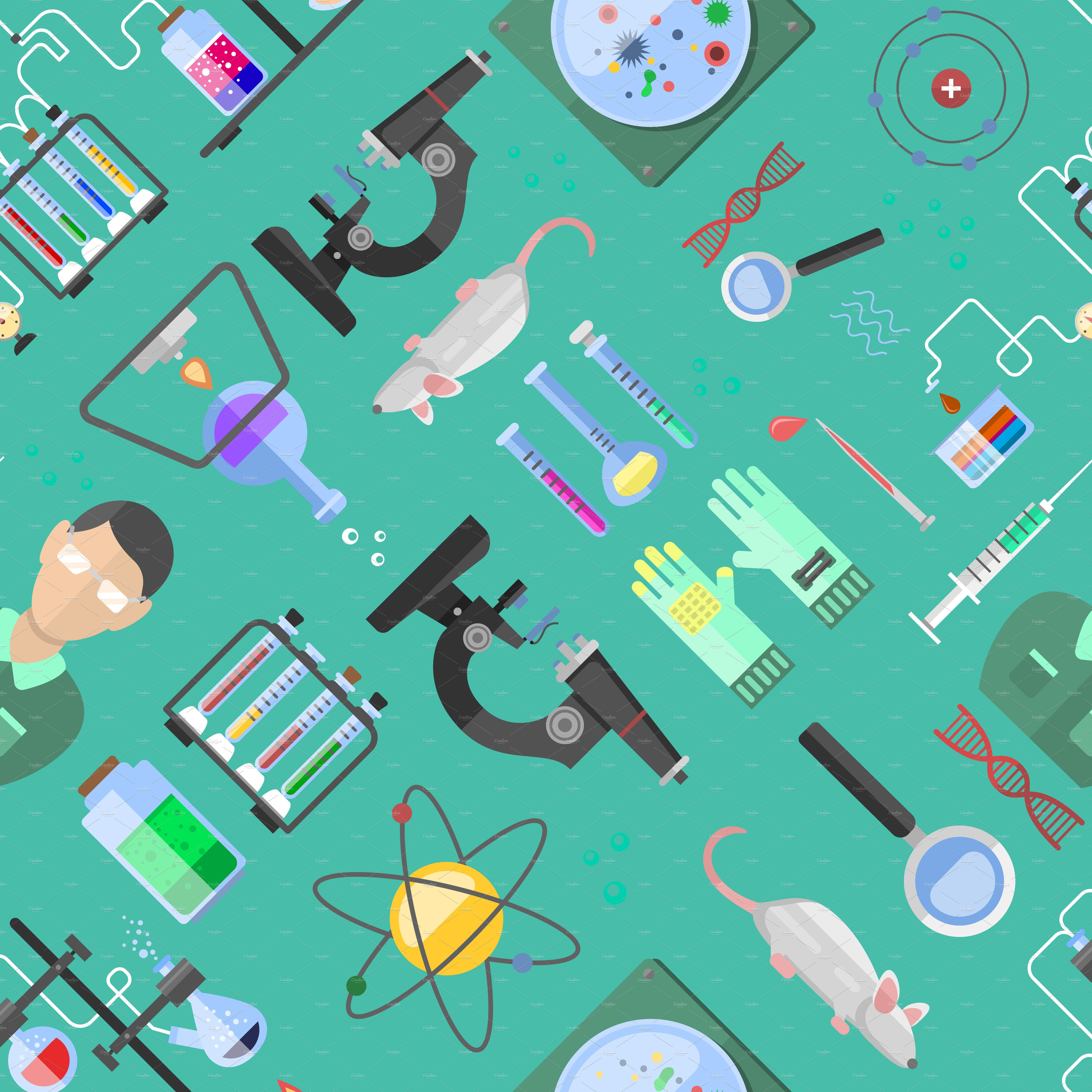 Science Laboratory Background Design: Science Background Biology Vector