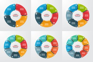 Set of pie chart templates