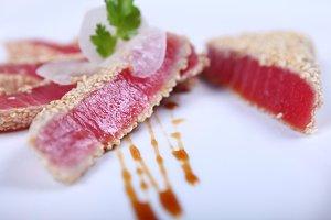 Fresh tuna meat