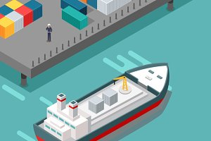 Cargo Port Illustration