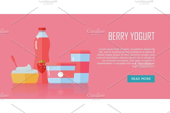 Berry Yogurt Dairy Products