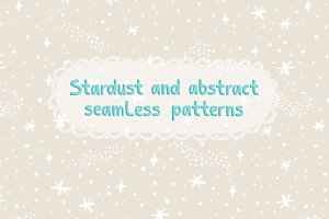 Stardust seamless patterns set