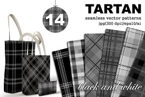 Tartan seamless plaid patterns