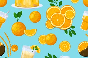Juicy fruits seamless pattern