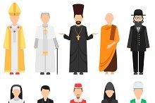 Religion people vector set