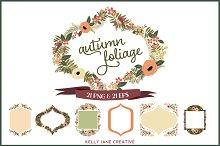 Autumn Flowers & Foliage Wreaths
