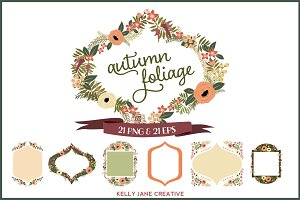 Autumn Flowers & Foliage Wreaths
