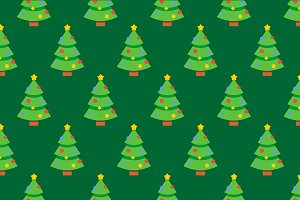 Seamless christmas tree pattern