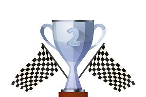 Glossy winner cup for second place