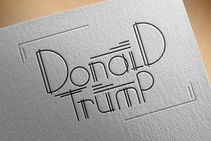Donald Trump - lettering