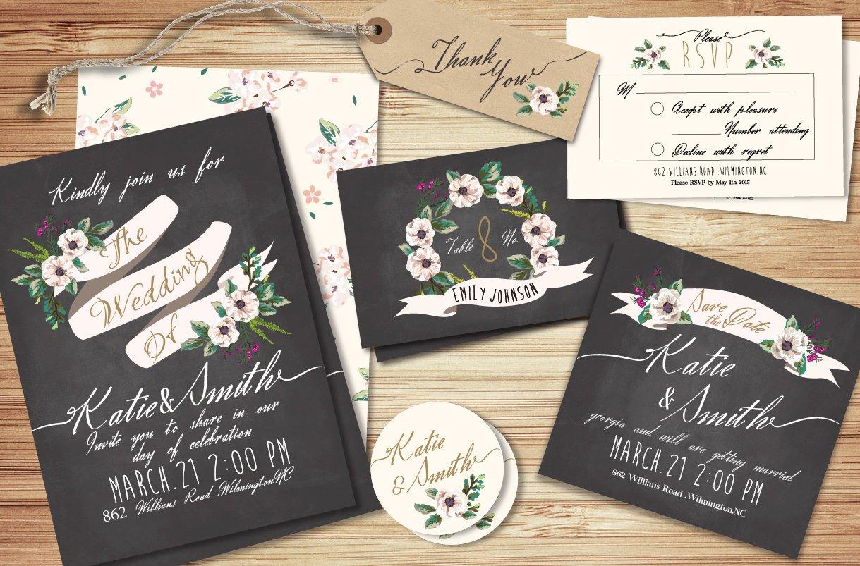 Wedding invitation suite Templates ~ Invitation Templates ~ Creative ...