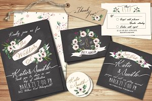 Wedding invitation suite Templates