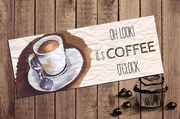 coffee card template