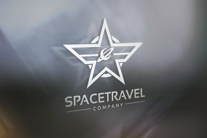 Space Travel Logo