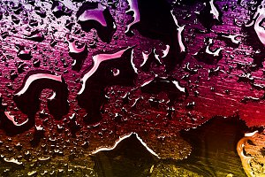 Colorful water drops texture
