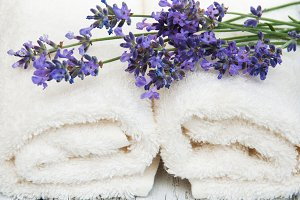 Lavender and massage towels