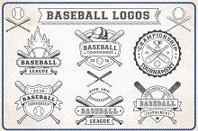 Vector Editable Baseball Logos