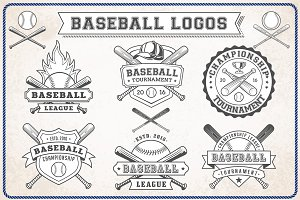 Vector Editable Baseball Logos
