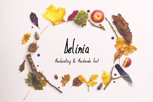Deliria Handwriting Font