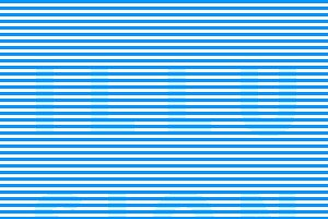Blue optical illusion with text