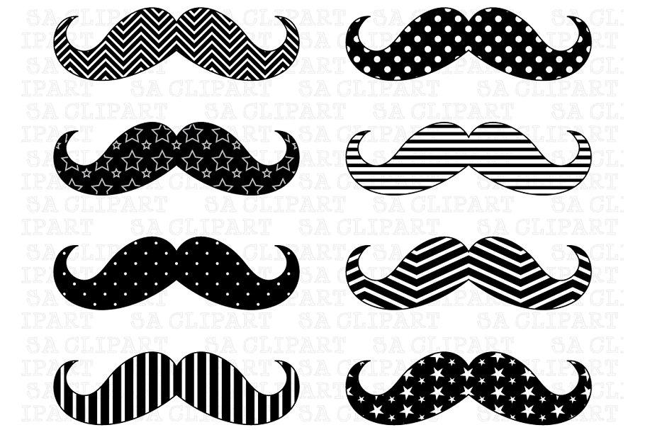 Mustache high resolution. Digital clip art