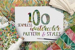 100 Watercolor Pattern & Styles