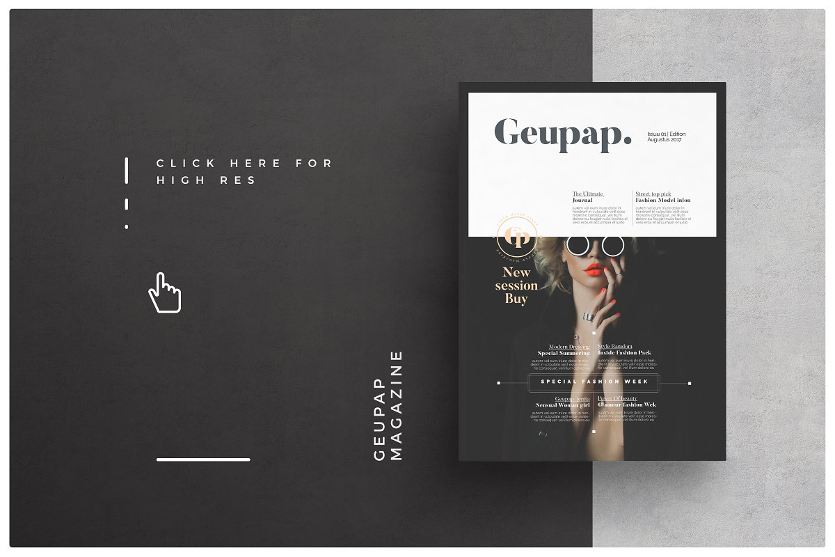 b0a44425 Magazine ~ Brochure Templates ~ Creative Market