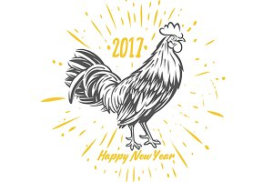 Rooster. Symbol of 2017.