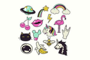 Cute patches set