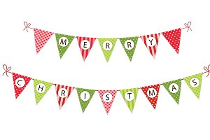 Winter holidays bunting
