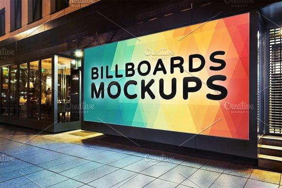 Billboards Mockups at Night Vol.2 - Product Mockups