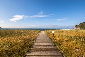 Wood way in Rodiles beach