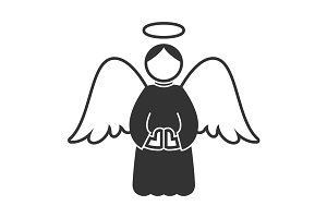Christmas angel icon