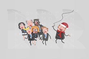 3d illustration.  Angry boss Xmas.