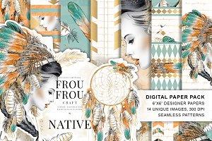 Tribal Girl Paper Pack