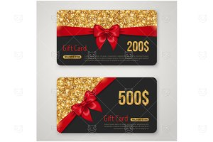 Black and gold gift cards
