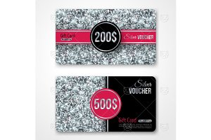 Silver gift cards