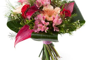 Flower bouquet with Anthurium