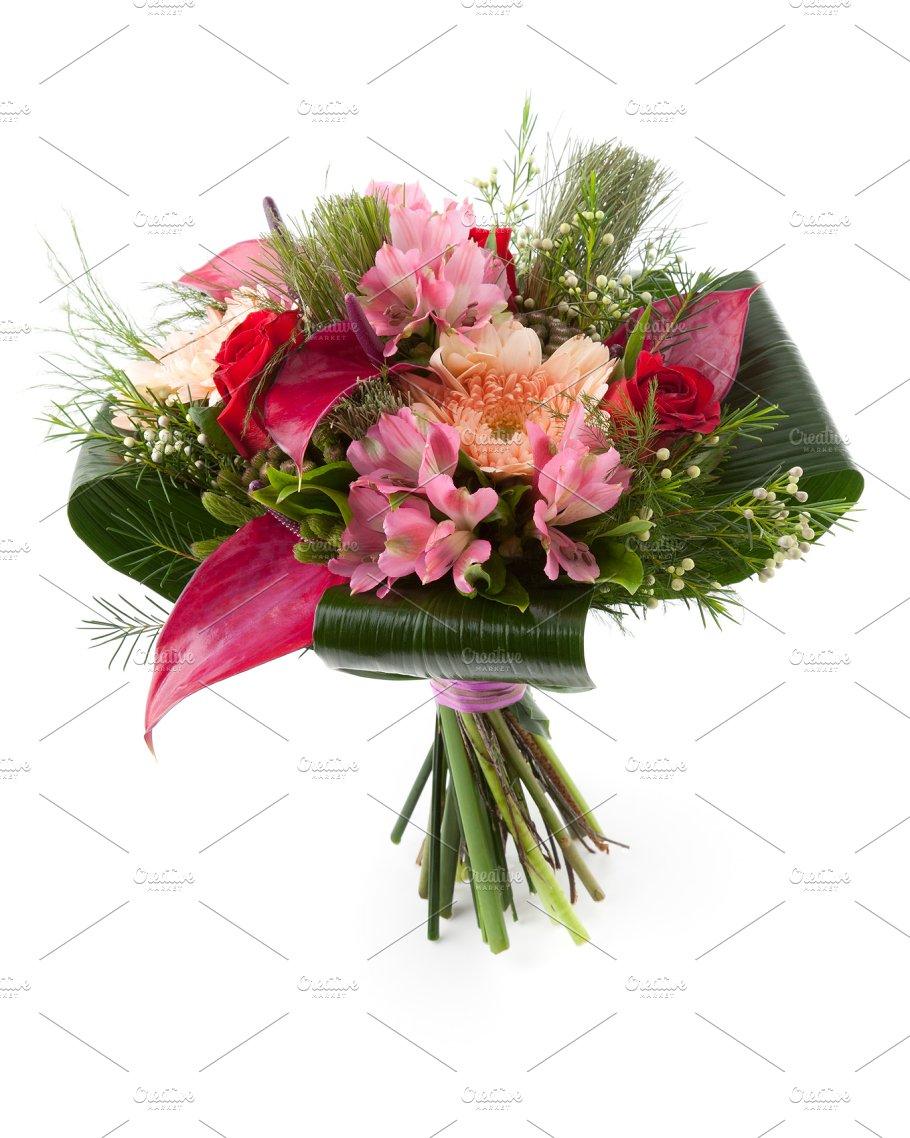 Flower Bouquet With Anthurium Photos Creative Market