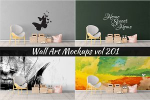 Wall Mockup - Sticker Mockup Vol 201