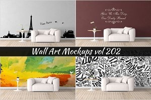 Wall Mockup - Sticker Mockup Vol 202